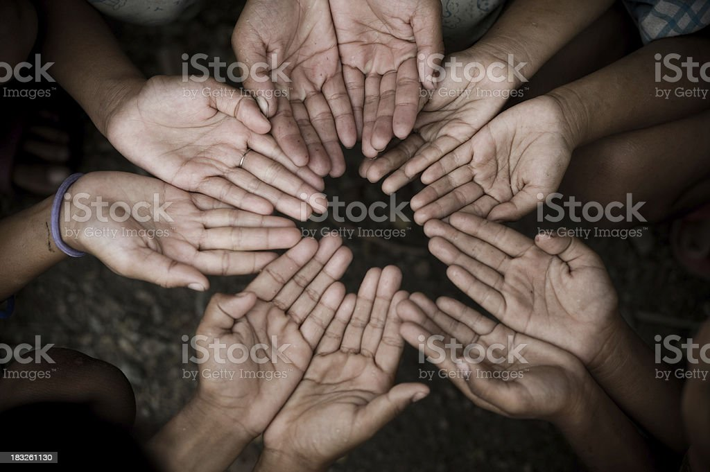 Hands of poverty. royalty-free stock photo