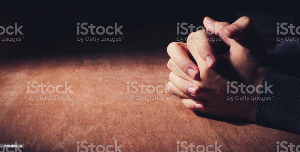 Hands Of Praying stock photo