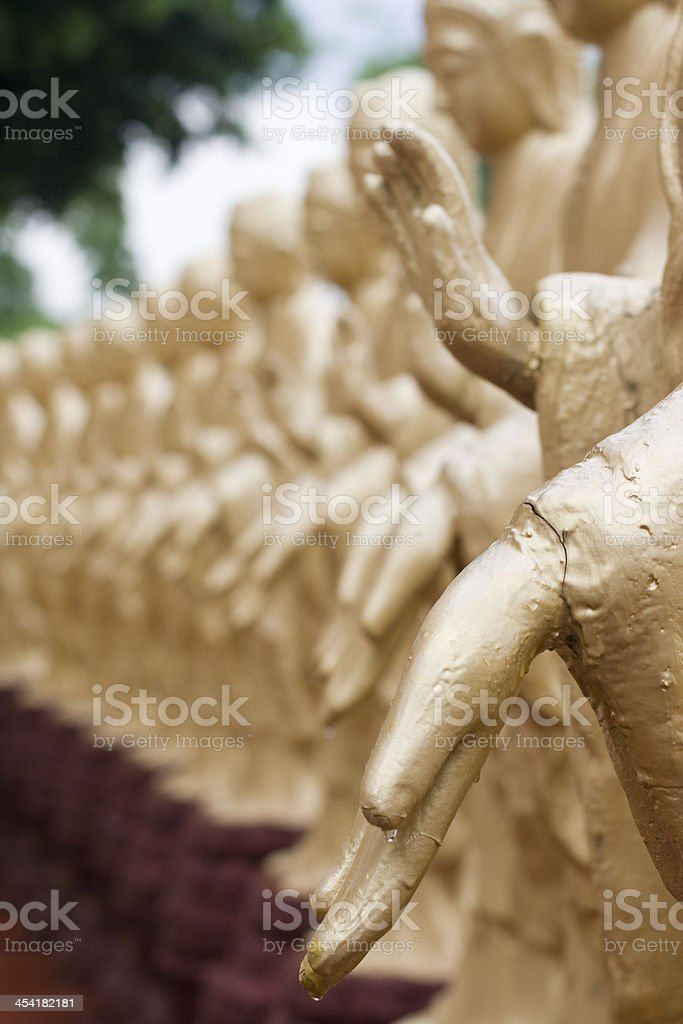 Hands of the Buddha royalty-free stock photo