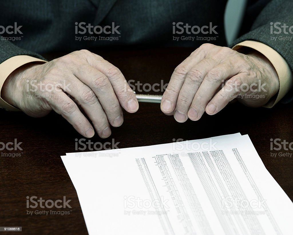 hands of the businessman royalty-free stock photo