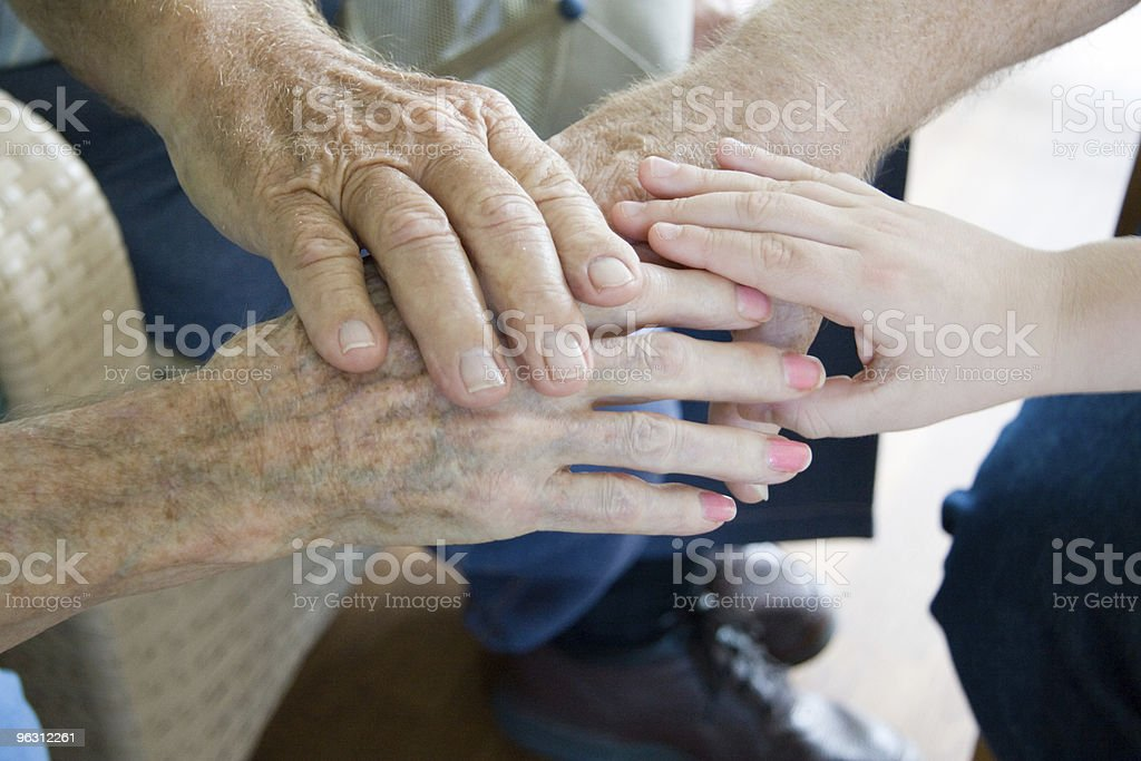 Hands of the Generations royalty-free stock photo
