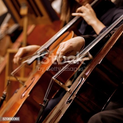 istock Hands of the man playing the cello 520690065