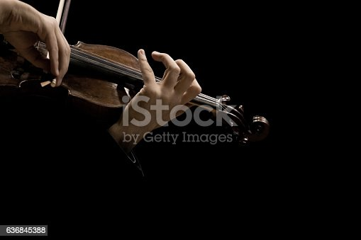 istock Hands of the musician playing a violin 636845388