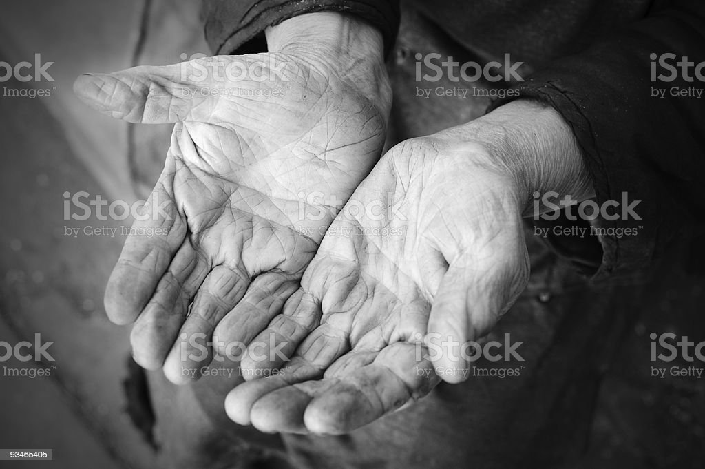 Hands of the old woman royalty-free stock photo