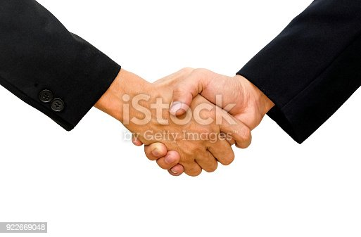 istock Hands of two businessman are shaking hands 922669048