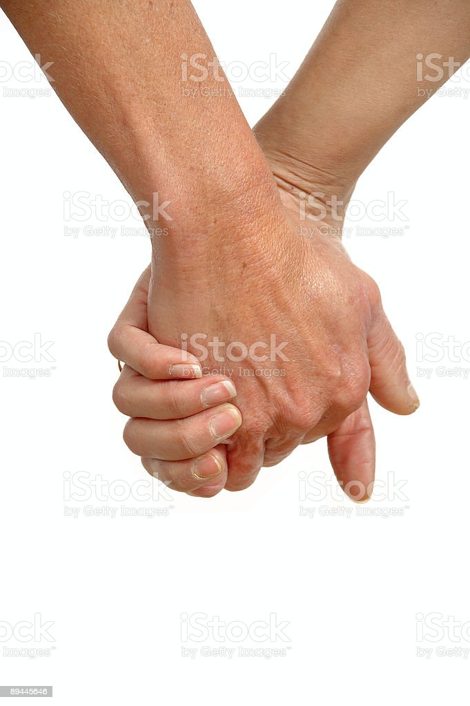 Hands of two generations royalty-free stock photo