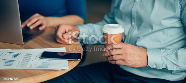 istock Hands of working business people 940287832