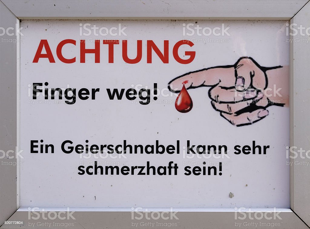 Finger weg stock photo