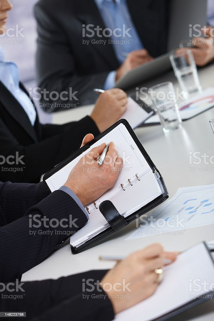 Hands on business meeting at office royalty-free stock photo