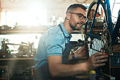 istock Hands on expertise in the maintenance of your bike 840485660