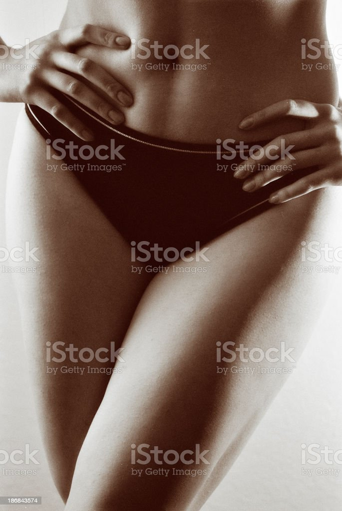 Hands on hips royalty-free stock photo