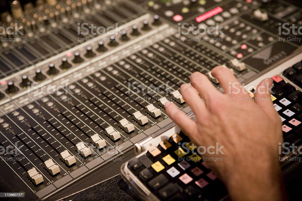 Hands on music royalty-free stock photo