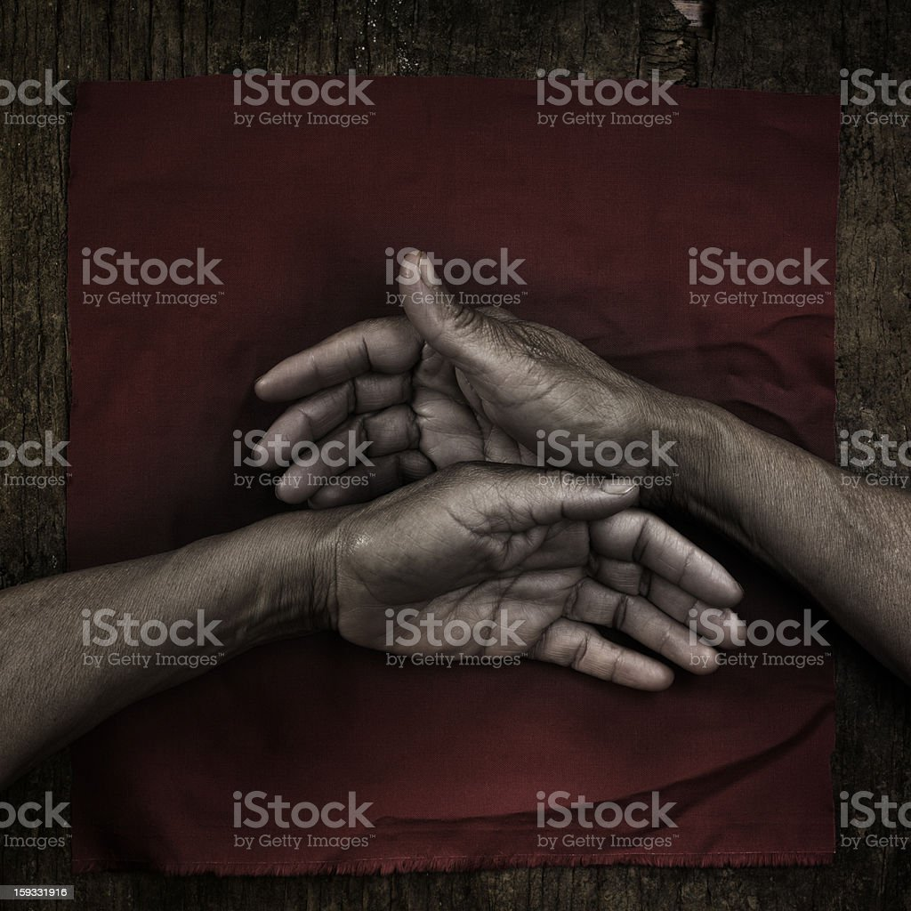 Hands on Red royalty-free stock photo