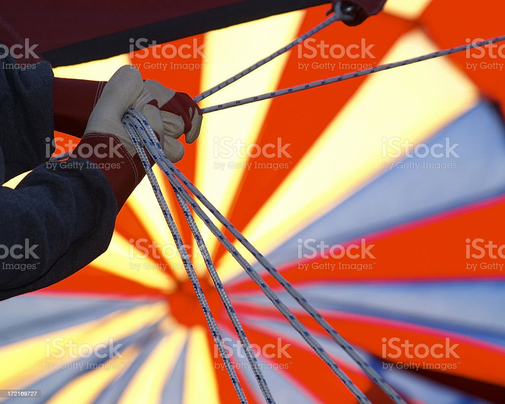 hands on rope stock photo