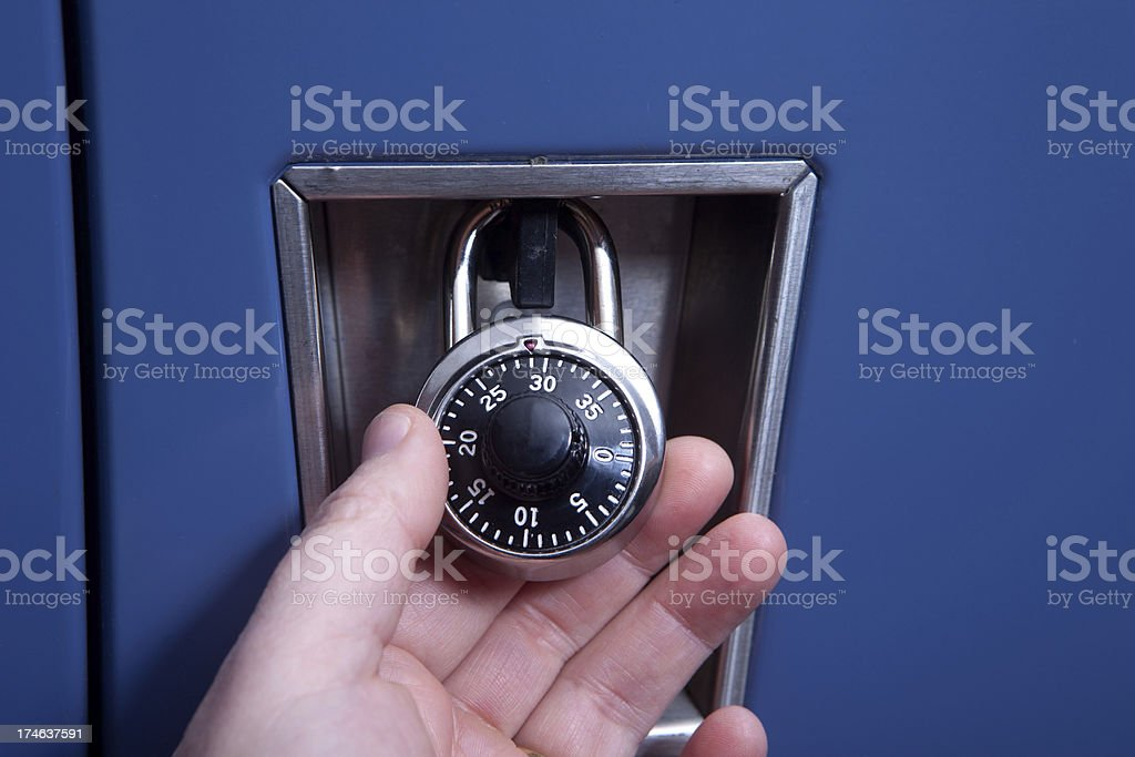 Hands on security stock photo