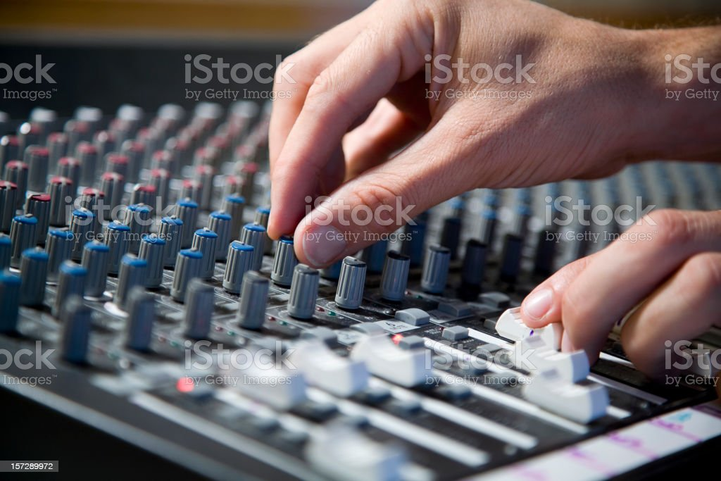 Hands on Soundboard stock photo