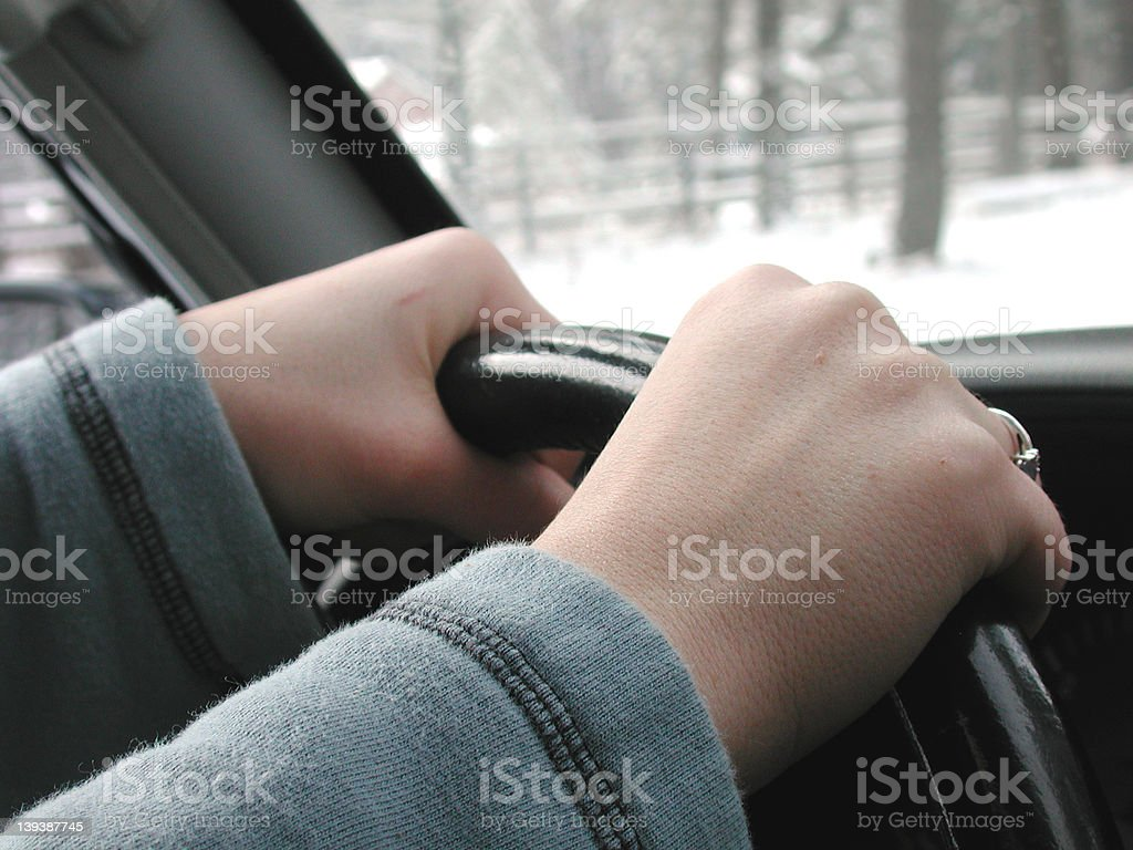 Hands on the Wheel royalty-free stock photo