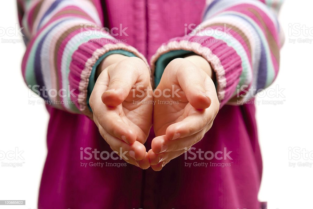 Hands open stock photo