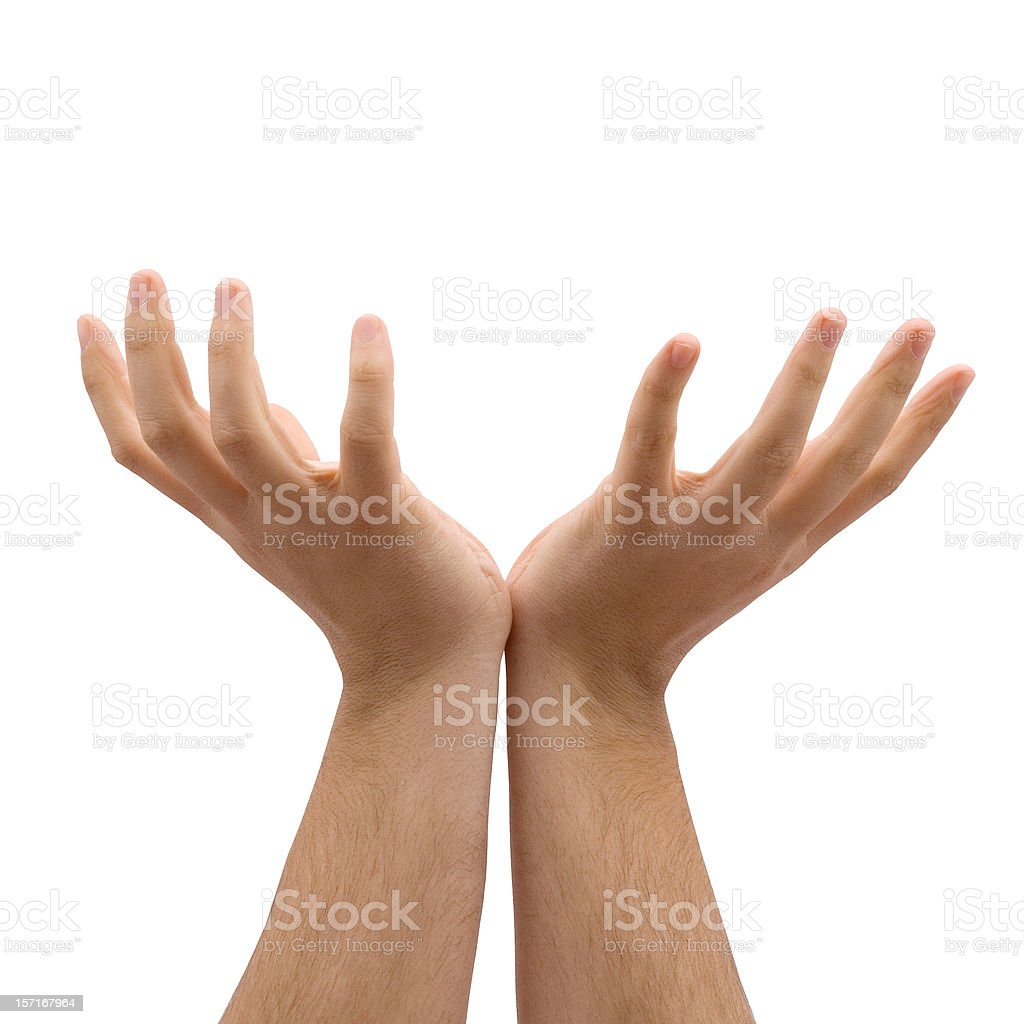 Hands open (path included) royalty-free stock photo