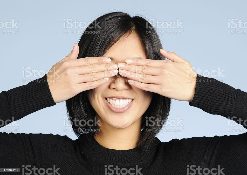 Hands over Eyes royalty-free stock photo
