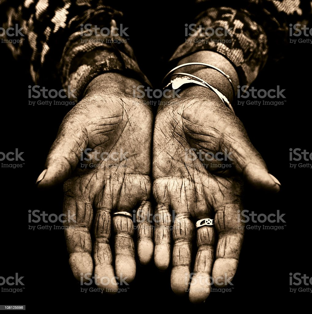 hands palms royalty-free stock photo
