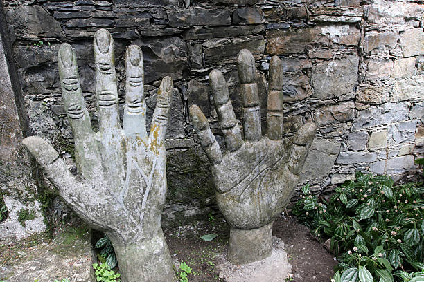Hands A two hands at Xilitla, Huasteca Potosina in the place of Ewar James call it