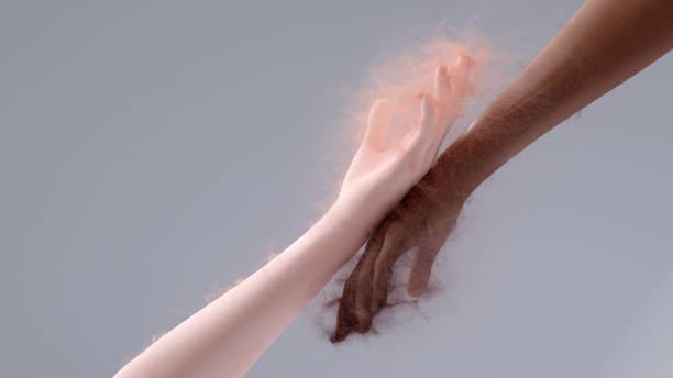 handen - hair grow cyclus stockfoto's en -beelden