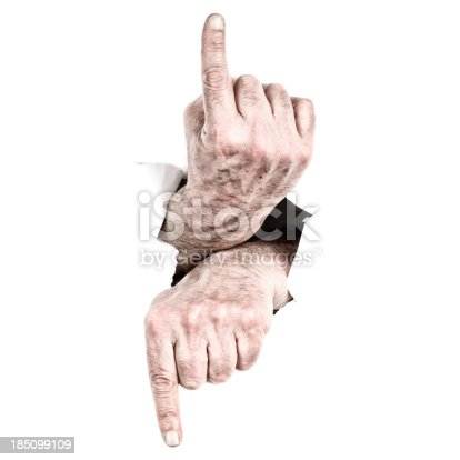 170011440 istock photo Hands Pointing 185099109
