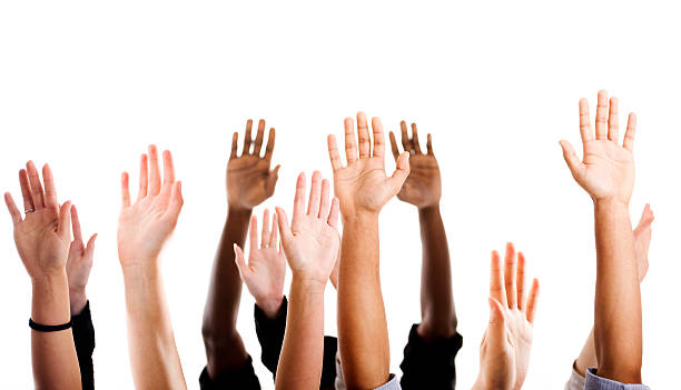 hands raised - human arm stock pictures, royalty-free photos & images