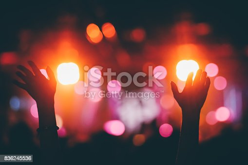 istock Hands raised up on a concert 836245536