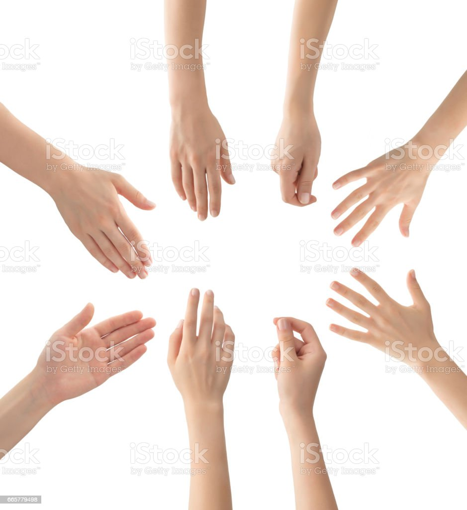 Hands set , isolated royalty-free stock photo
