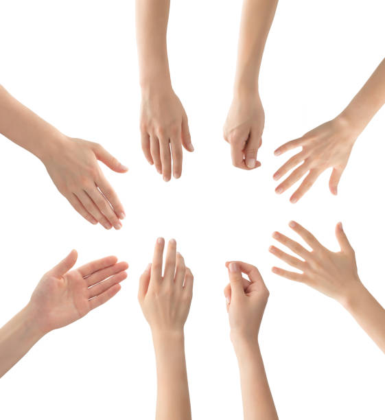 Hands set , isolated Hands set , clipping path hand stock pictures, royalty-free photos & images
