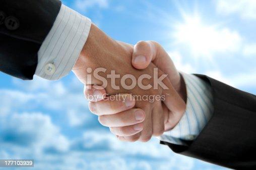 istock Hands shaking 177103939