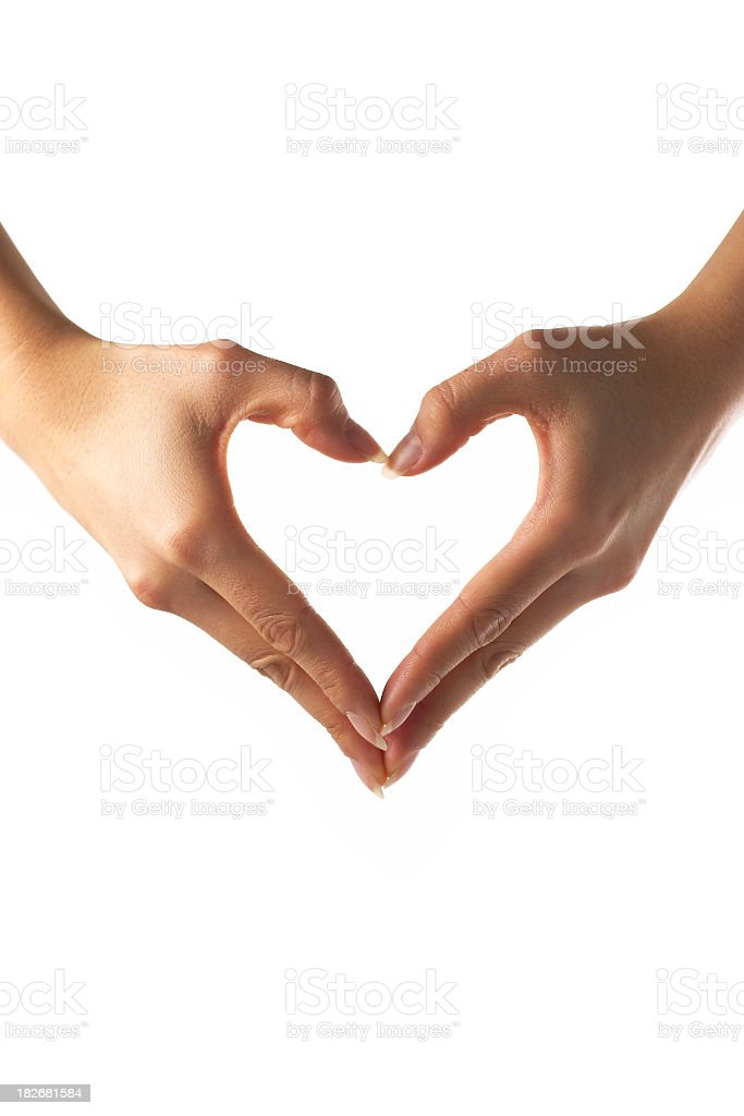 hands shaping heart stock photo