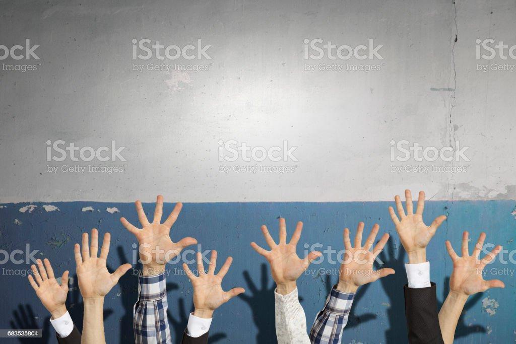 Hands showing gestures stock photo