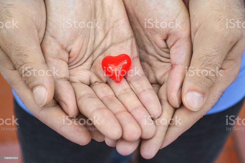 손을 표시중 사랑입니다 royalty-free 스톡 사진
