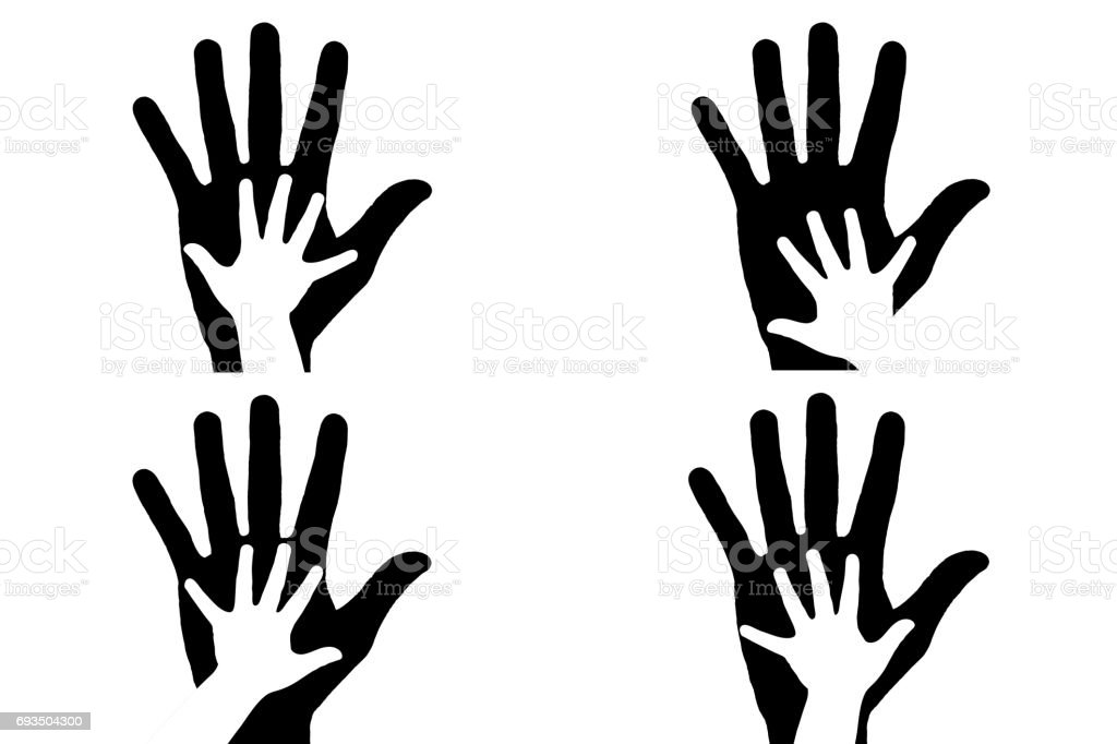 Hands silhouette stock photo