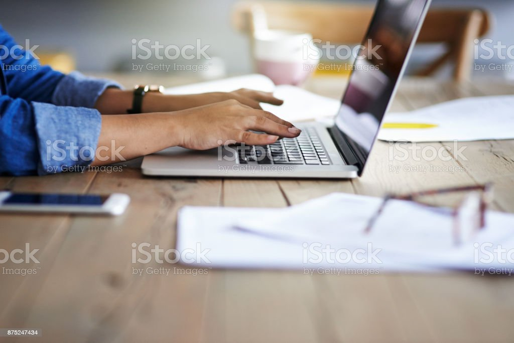 Hands that make productivity happen stock photo