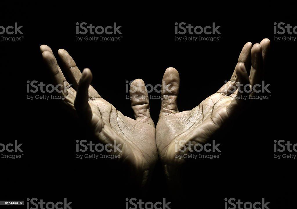 Hands to Heaven stock photo