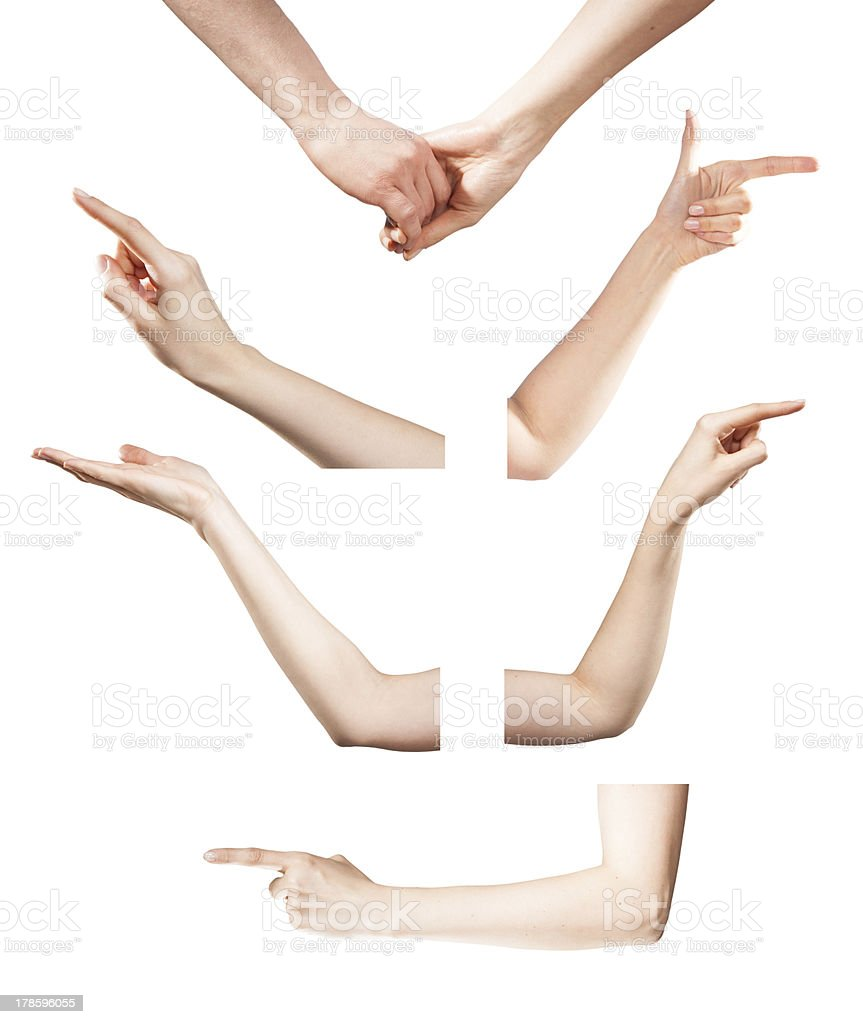 hands touch or click to something stock photo