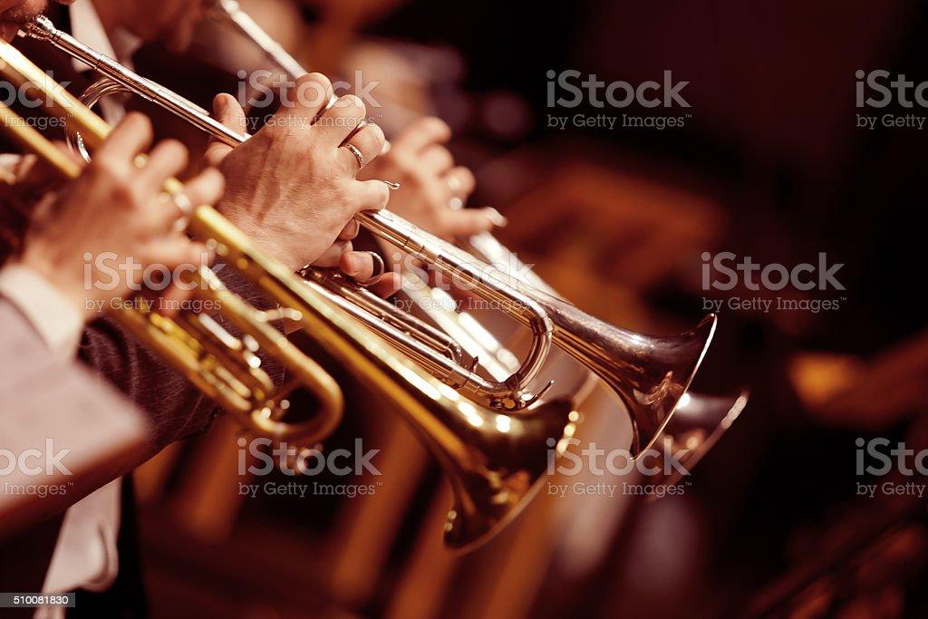 Hände Trompeter – Foto