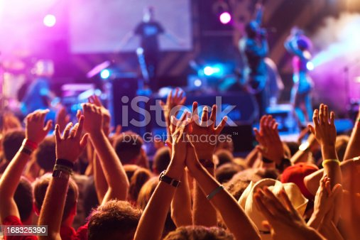 istock Hands up at the concert 168325390