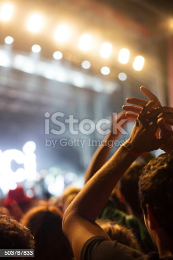 1069137774 istock photo Hands up at the concert 503787833