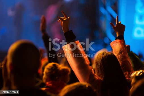 1069137774 istock photo Hands up at the concert 503787871