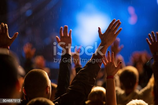 1069137774 istock photo Hands up at the concert 504687513