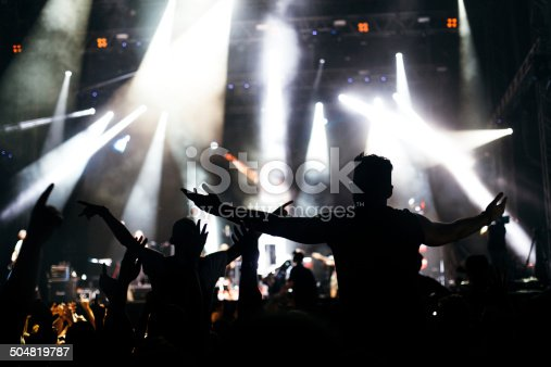 1069137774 istock photo Hands up at the concert 504819787