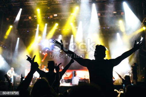 1069137774 istock photo Hands up at the concert 504819793