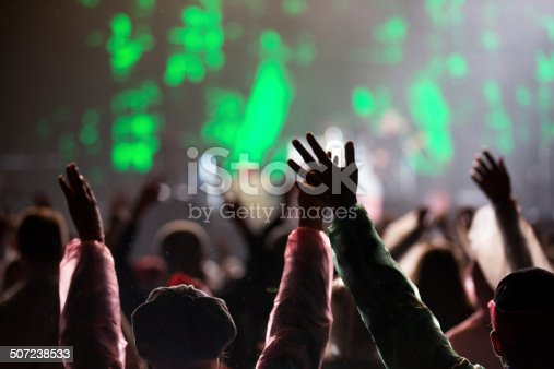 1069137774 istock photo Hands up at the concert 507238533