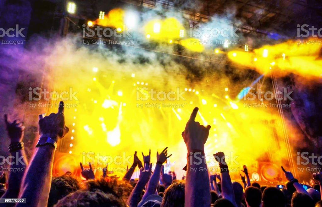 people enjoying a Rock music concert