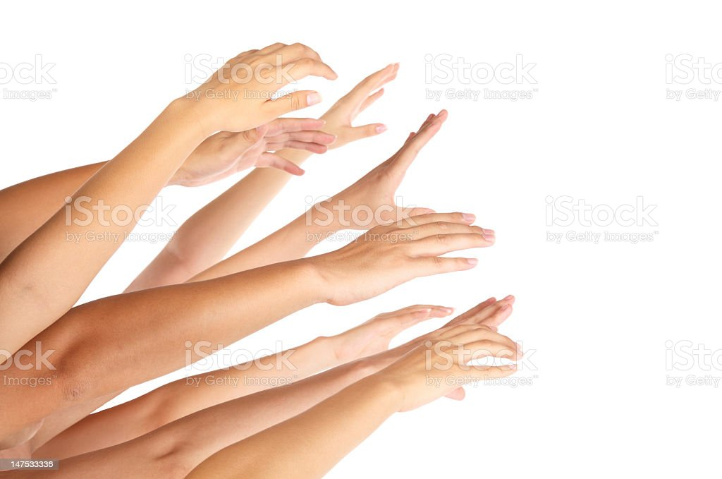 Hands up royalty-free stock photo